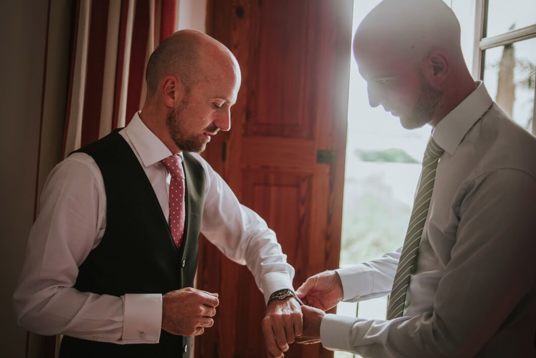 groom getting ready mallorca 1