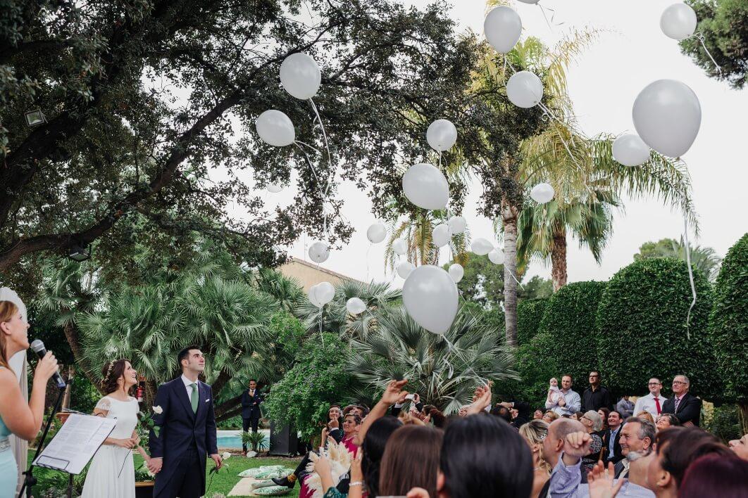 soltar globos boda Alicante