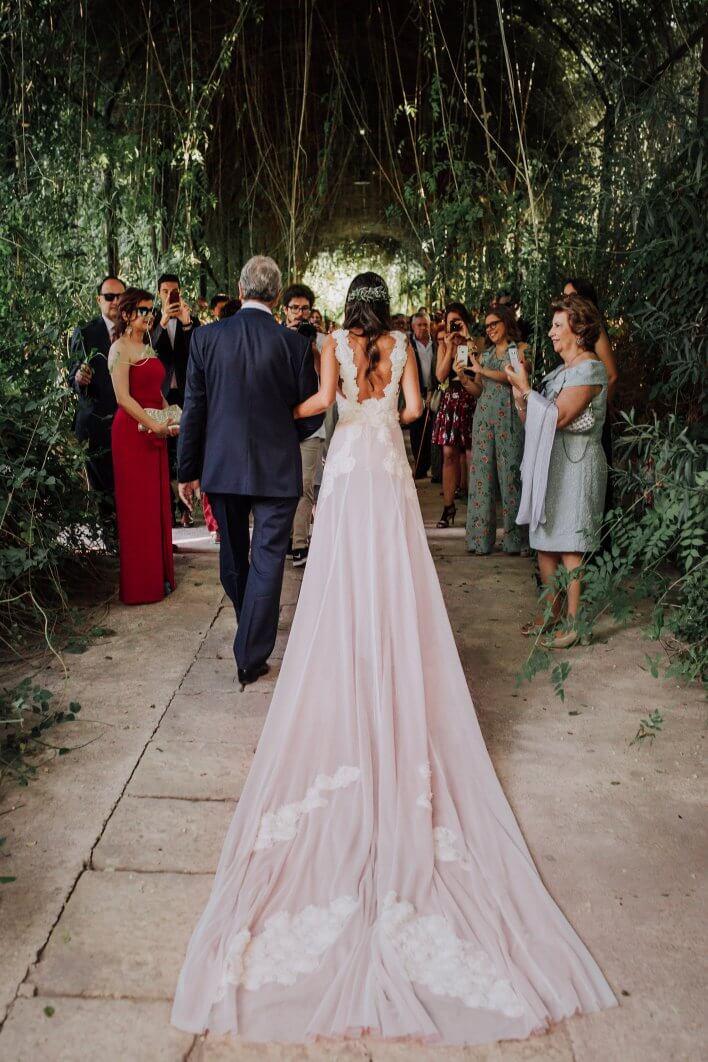 vestido helena mareque boda Jardines de Abril