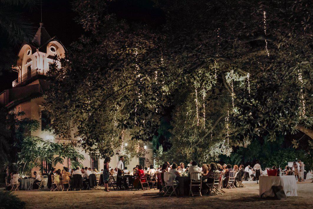 boda de noche Jardines de Abril