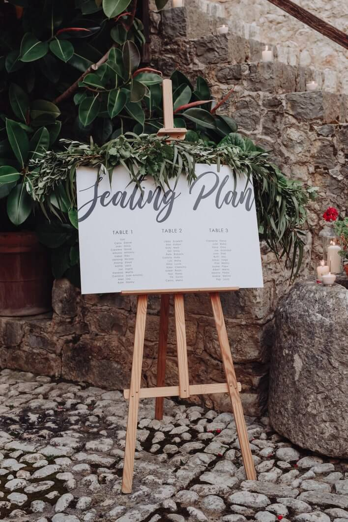 wedding seating Mallorca