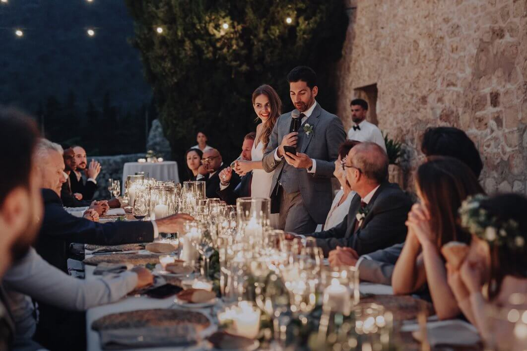 candle lit wedding Son Berga Mallorca