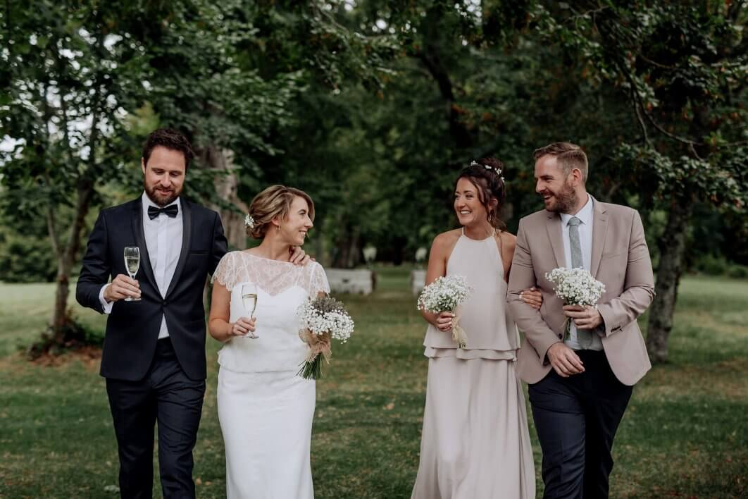 relaxed French chateau wedding