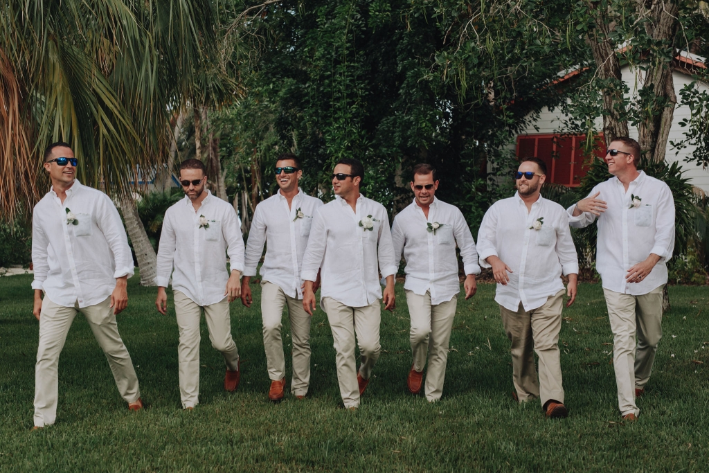 Moorings Village wedding groomsmen