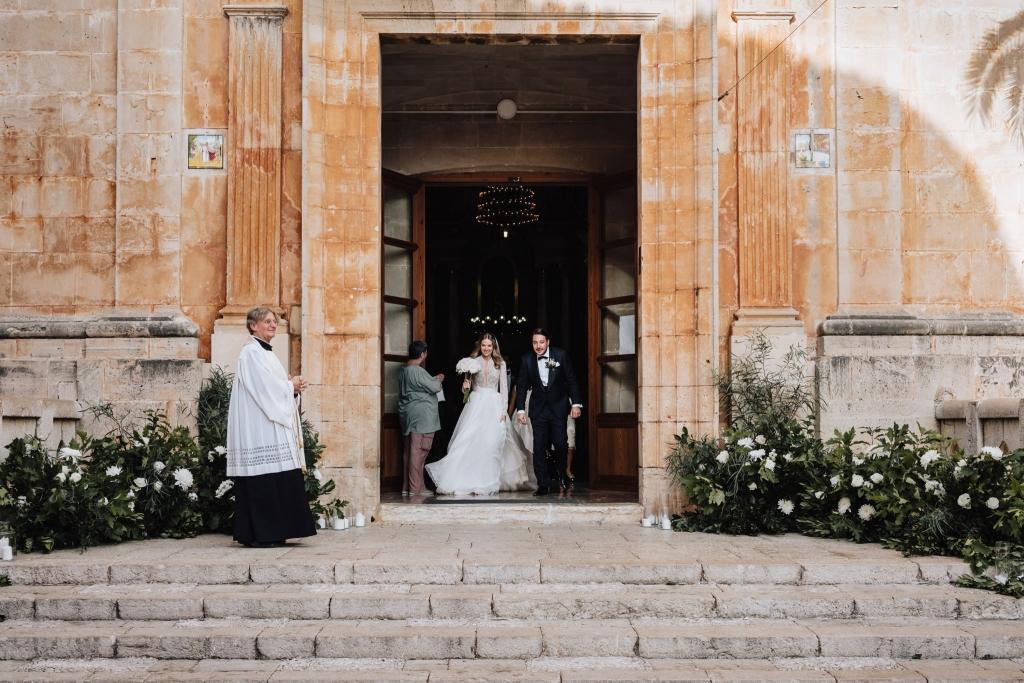 church ceremony wedding Santanyi 1