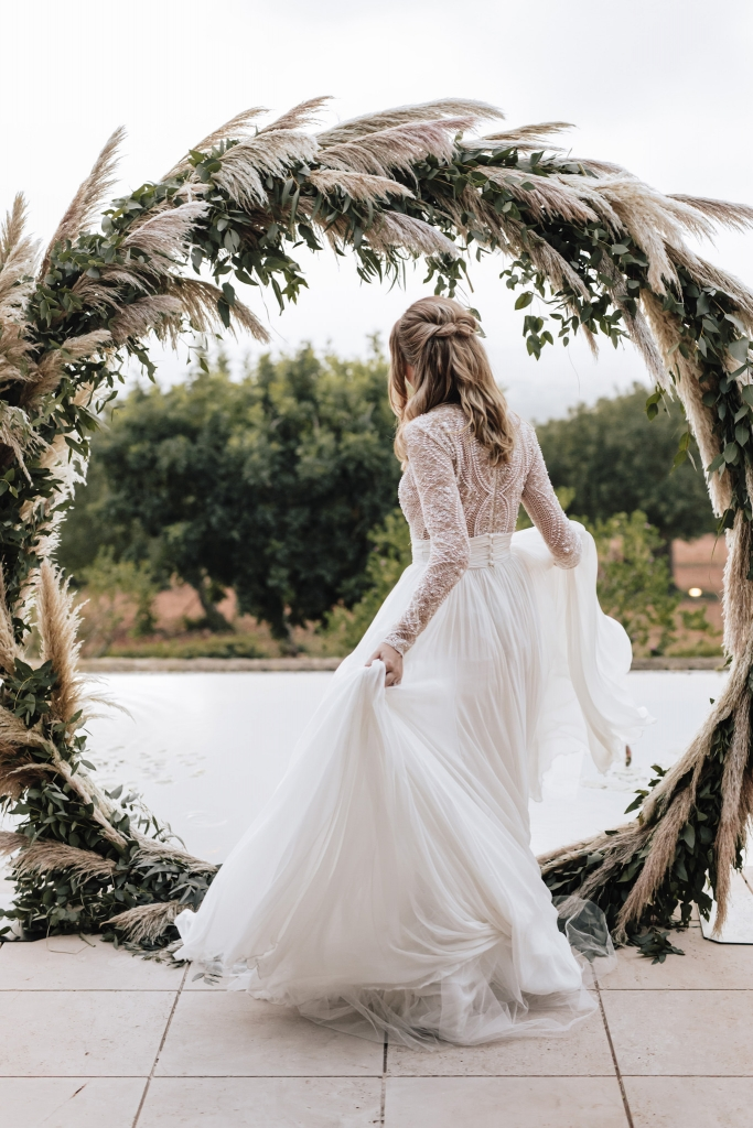 round arch wedding Mallorca 1